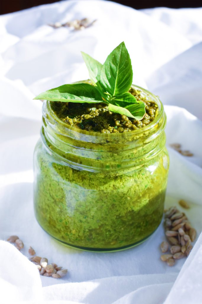 pesto basil sunflower seed